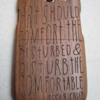 Samsung Galaxy S3  case - wooden cases walnut / cherry or bamboo -  Art should